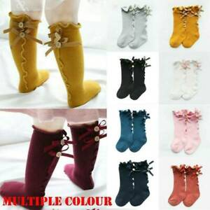 Toddler-Kids-Baby-Girl-Knee-High-Long-Socks-Princess-Bow-Cotton-Tights-Stockings