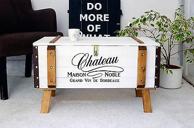 Shabby Chic Vintage Frachtkiste Holzkiste Truhe Couchtisch Landhaus Loftstyle