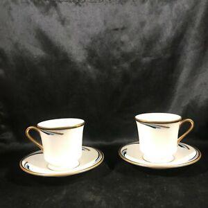 Pair-of-GORHAM-China-Dynasty-REGENCY-Demitasse-Tea-Cups-Saucers