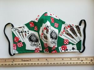 Washable Reusable Face Mask With Filter Pocket Cards Casino Print Ebay