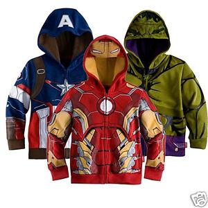 Boys-Jacket-Cap-Iron-Man-Captain-America-Hulk-Kids-Costume