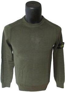 Details zu Stone Island Herren Pullover Round Neck Reine Baumwolle Farbe Grün Größe M