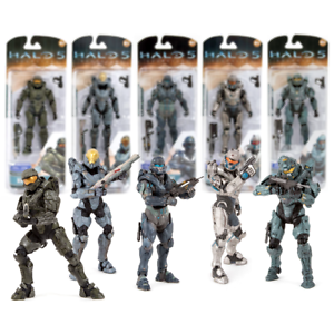 New Halo 5 Guardians REQ Pack Figures Master Chief Fred Kelly Or Locke Official