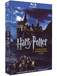 Harry-Potter-La-Collezione-Completa-8-Blu-Ray-Cofanetto-Saga-Collection
