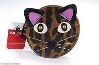 Mundi Cat Coin Purse Kitty Face Accessory Bag Case 4.5 Browned Cute 3478