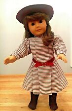 American Girl Samantha/'s Pink Frilly Frock Dress Outfit Shoes Bow Tights NEW