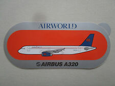 AUTOCOLLANT STICKER AUFKLEBER AIRWORLD AIRLINE AIRBUS A320 AIRLINER