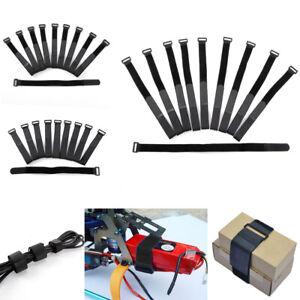10 sangle ruban auto-agrippant attache cable + boucle bande Adhésif organisateur