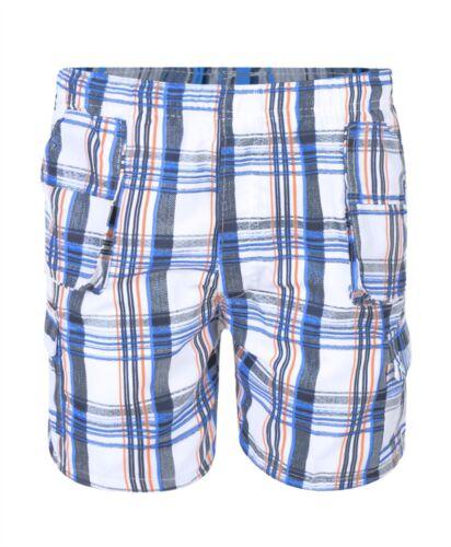 Kids Multipocket Lightweight Shorts Kids Short Checked Cargo Bottoms 3-14 Years