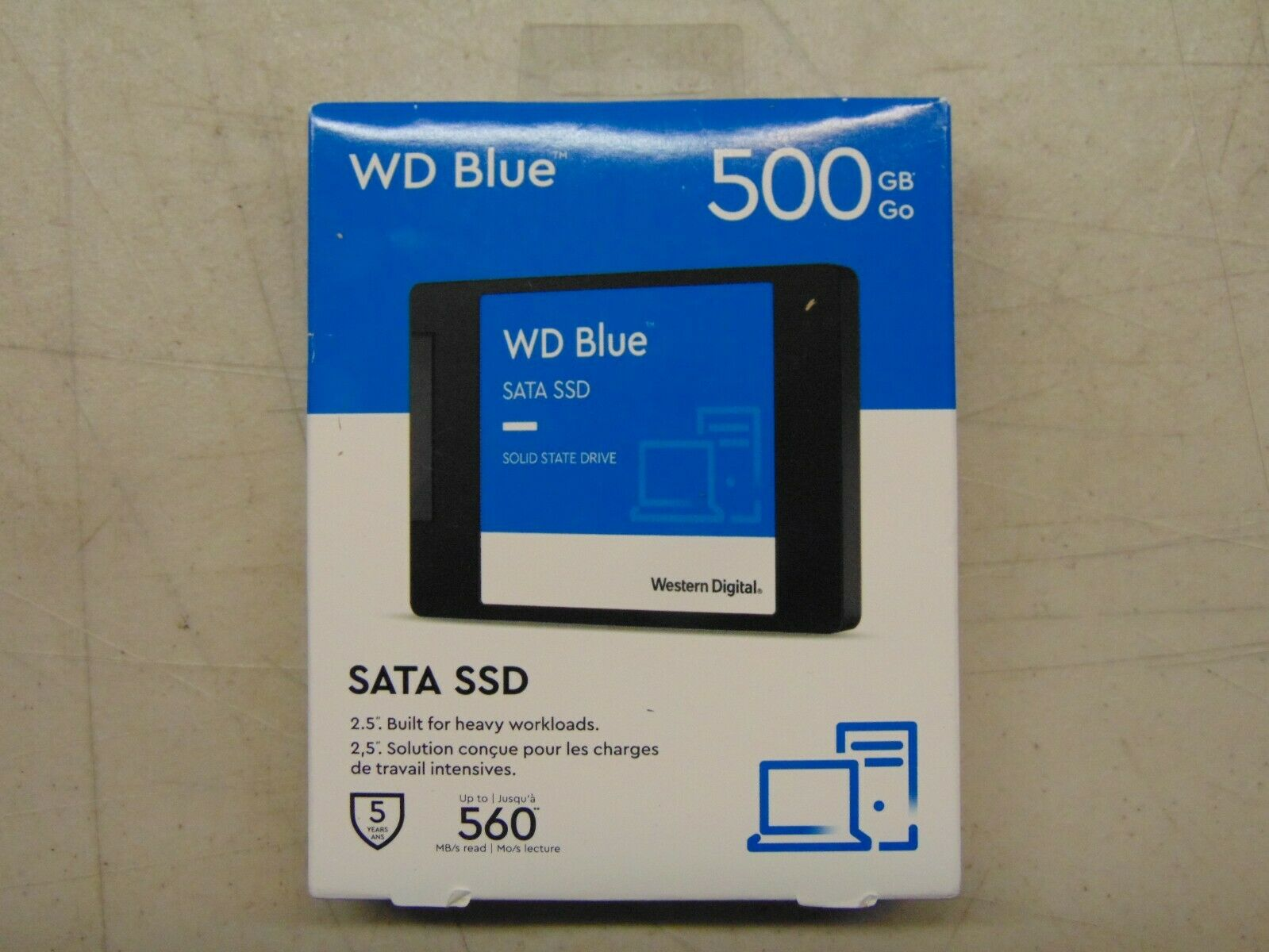 WD - Blue 500GB Internal SATA Solid State Drive. Buy it now for 56.00