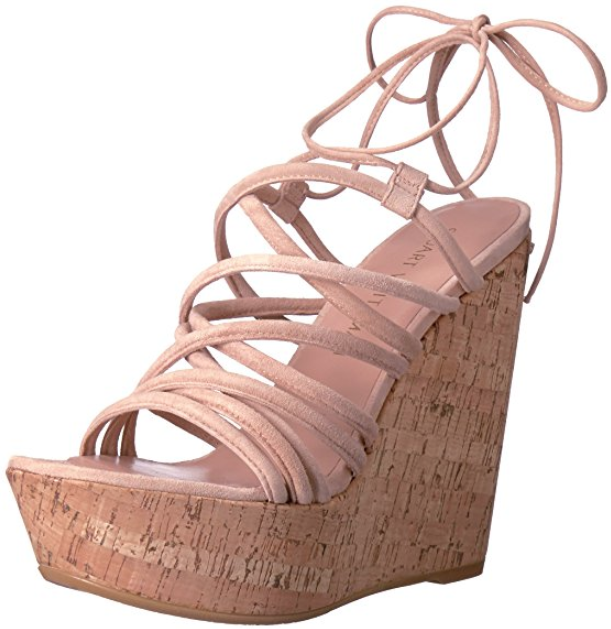 fino al 70% di sconto Stuart Weitzman Donna  Histrung Bisque Wedge Sandal Sandal Sandal Sz 8M 1126  punto vendita