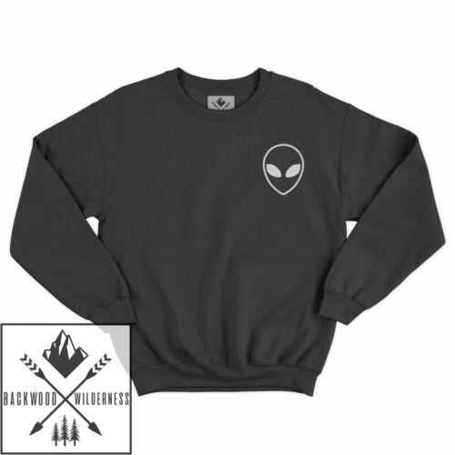 Alien Pocket Space Ufo Cute Hipster Tumblr Galaxy Crewneck Sweater Winter Jumper