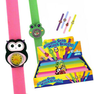 Silicone-Animal-Snap-Watch-Bracelet-for-Kids-7-to-Choose-From