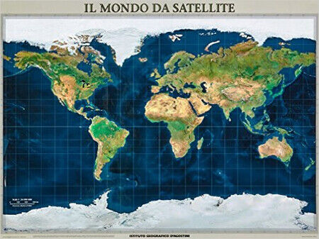 Cartina Satellitare Mondo.Cartina Del Mondo Dal Satellite Cm 120x90 Poster Plastificato Riferimento 21 9788851114961 Acquisti Online Su Ebay