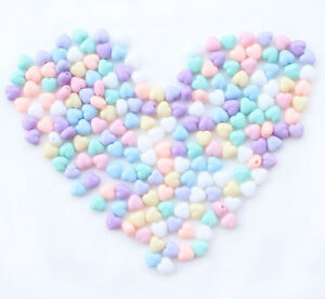 200pcs-Mixed-Colors-Heart-Shape-Acrylic-Spacers-Beads-7x7x5mm-Jewelry-making-C61