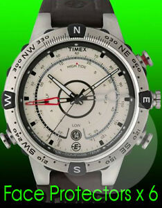 f5f43e987e85 Timex E Expedition compass watch face protectors x 6 protect from ...