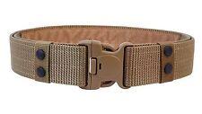 ALAIX para hombre 55MM Nylon Cinturón Táctico Ajustable Deber de rescate no metal de color caqui