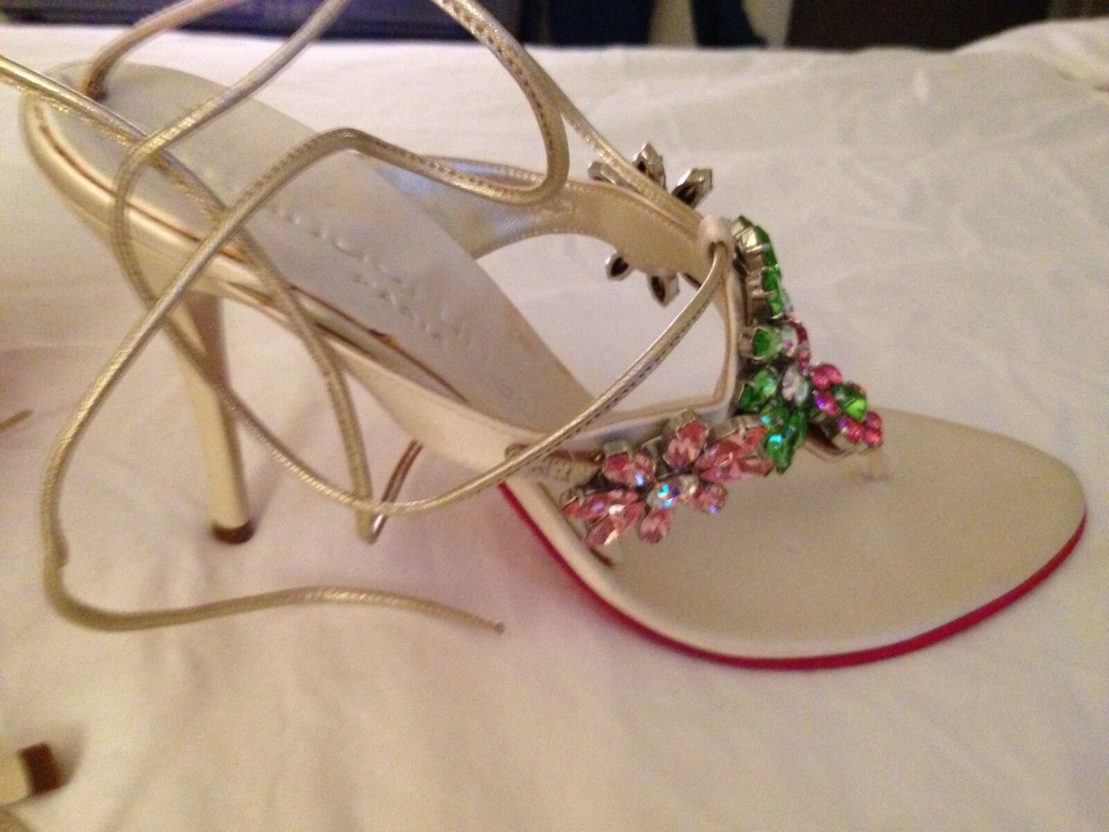 Emanuel Ankle Ungero mullti Color Crytal Ankle Emanuel Sandals High (3in and Up) Size 8.5 59e589
