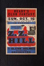 Z.Z. Hill 1983 poster Club Fantasy Thibudaux Tour