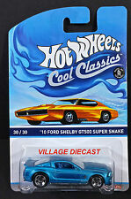 2014 Hot Wheels Cool Classics #30 '10 Ford Shelby GT500 Super Snake BLUE/MOC