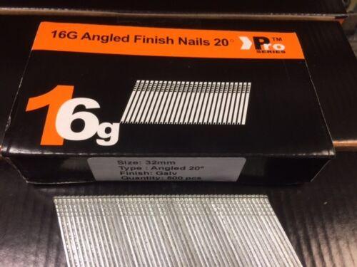 500 x 32mm Angled 16G 2nd Fix Nails DEWALT DC618KB /& DCN660