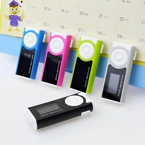 Portable-Mini-Brillante-USB-Clip-LCD-De-Pantalla-MP3-Media-Player-16GB-Micro-SD