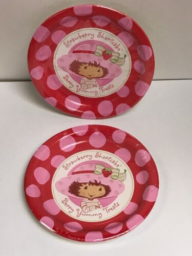 PARTY SUPPLIES LOT OF 2 PACKAGES STRAWBERRY SHORTCAKE DESSERT PLATES