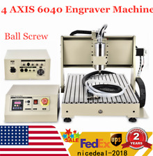 Usb 4 Axis 6040 Cnc Router Milling Machine Engraver 1500w Engraving Drilling Kit