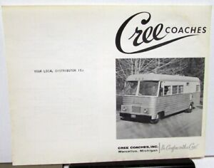 1964 Cree Coaches Sales Data Sheet Vintage Motor Home Rv Camper Features Specs Ebay
