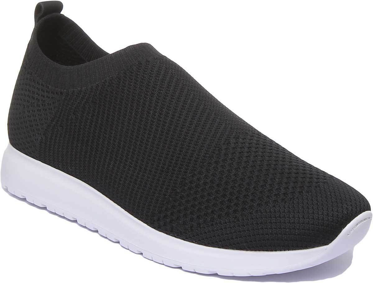 Vagabond Colin Mens Slip-on Casual Trainers Mesh Black And White UK Size 6 - 12