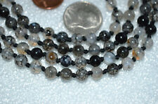 108 Agate Dragon Vein Hand Knotted Meditation Mala 6mm Beads Necklace- Energized