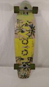 Kryptonics Since 1965 Complete Skateboard Longboard w/ Green Wheels pre-owned