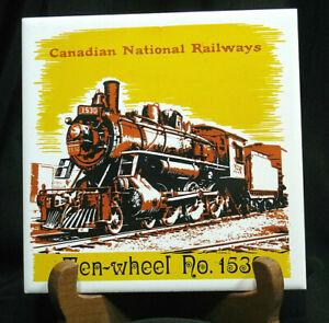 Vintage Train Railroad Railway Tile Trivet Plaque Ten Wheel No 1530 6 Square Ebay