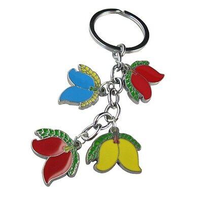 5PCS Enamel Fruit charm keychains M18799
