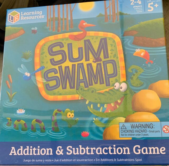Ages 4-Up Learning Resources Sum Swamp Addition//Subtraction Game