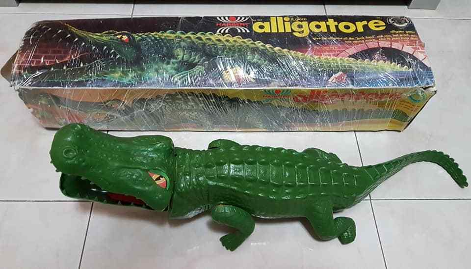 Toys Vintage rare 1985 HARBERT Alligatore Coccodrillo alligator crocodile cm.70