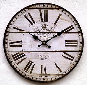 Wanduhr-Kuechenuhr-antik-Design-modern-Kueche-Vintage-Quarzuhr-Uhr-Retro-gross-K