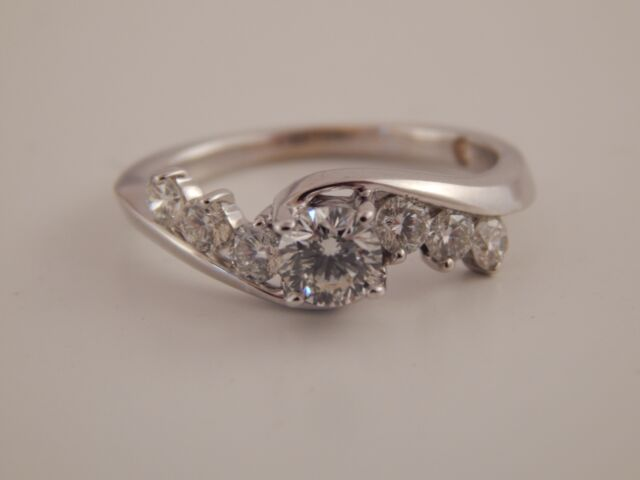 81 TCW GSI Certified Round Leo Cut Bridal Diamond Engagement Ring I ...