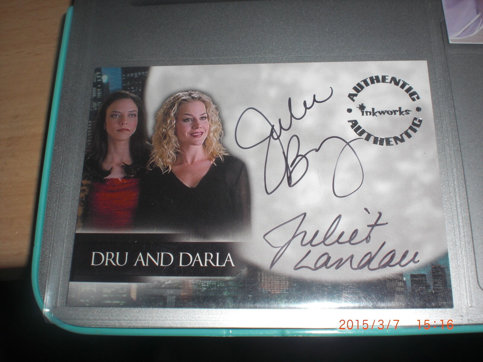 Angel Season 2 Dual Autograph Card DA1 Darla & DRU