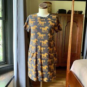 VIVENNE TAM Horse Knit Short Sleeve Shift Dress Size Small S