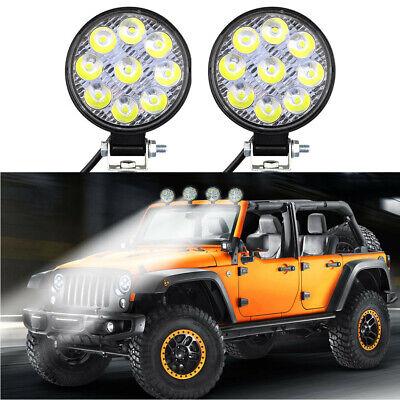 2PCS 27W square Flood Work Light Bar Fog Driving Lamp Truck Tractor SUV 9 LED us
