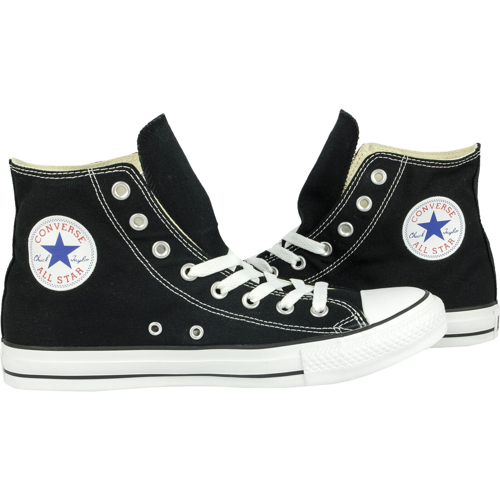 Converse Classic Chuck Taylor All Star HI High Black Trainer Lace Up NEW