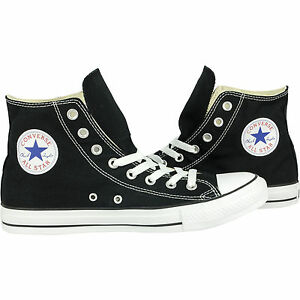 a47855f490fb Converse Classic Chuck Taylor All Star HI High Black Trainer Lace Up ...