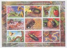 INSETTO BUG COCCINELLA Cockroach Caterpillar ANT SCARABEO 2000 MNH STAMP SHEETLET