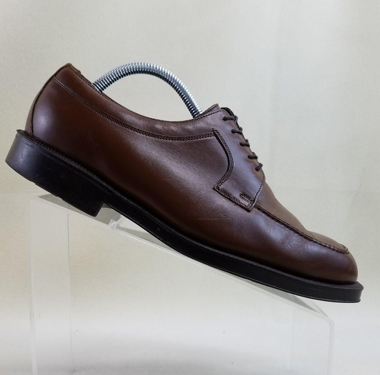 Florsheim Mens Size 10 D Oxfords Shoes Dress Brown Leather Apron Toe Dress Shoes #B40 ec8ea3