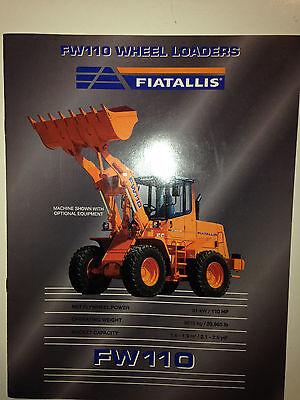 Fiat Allis FW110 Wheel Loader Sales Brochure /& specifications.
