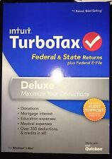TurboTax Deluxe Federal & STATE 2013 New sealed CD in original DVDcase