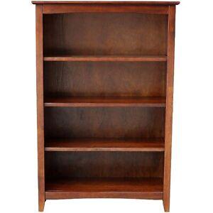 Mission-Craftsman-Shaker-4-Shelf-48-034-Solid-Hardwood-Bookcase