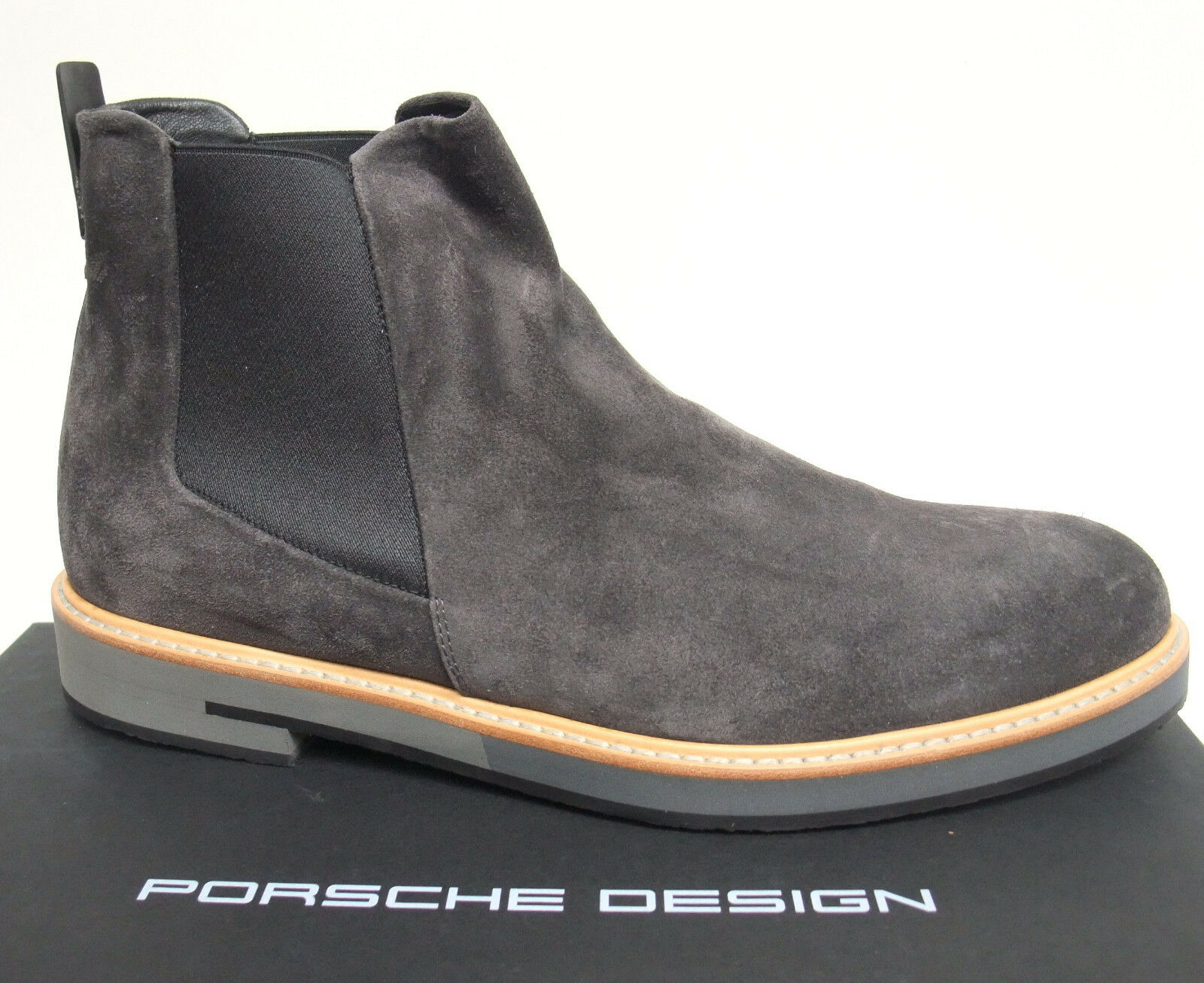 PORSCHE Design Chelsea-stivali Eric tg. 43,5 + 44 Shark in Velour Pelle Stivali Nuovo | a prezzi accessibili  | Sig/Sig Ra Scarpa