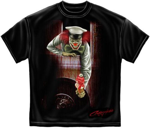 Scary Clown T Shirt Evil Ice Cream Man Blood Bloody Halloween Horror Tee S-3XL